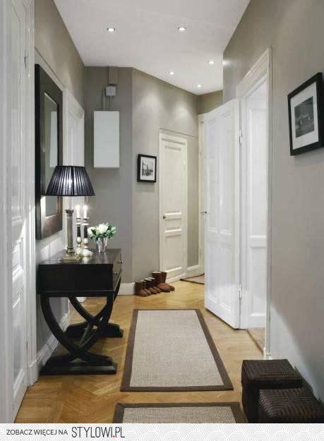 grey hallway hallway hallway decorating transitional