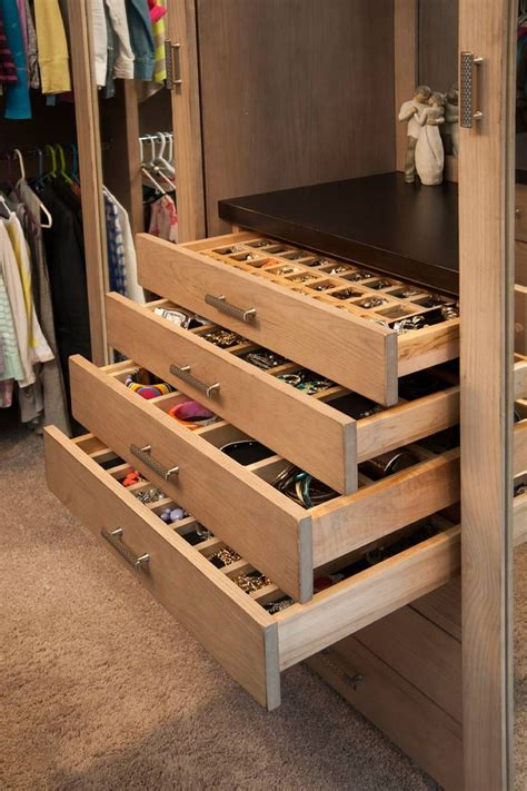 closet with jewelry storage drawers my home hopefully