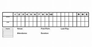 30 printable baseball scoresheet scorecard templates With baseball box score template