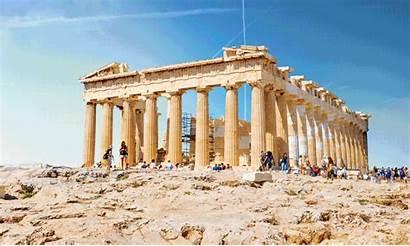 Ancient Ruins Gifs Parthenon Glory Wonders Temple