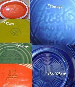 Fiestaware Color Chart Lesson In Vintage Markings From Quot Moonlight Antiques And