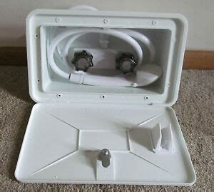 Rv Shower Parts - white rv outside outdoor exterior shower box set held
