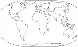 Printable Blank World Map Continents