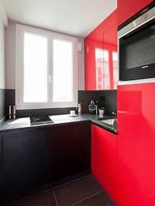 cuisine rouge et noir un duo gagnant pour un style moderne With cuisine moderne rouge et noir