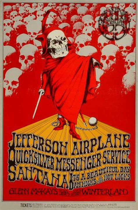 Jefferson Airplane Vintage Concert Poster from Winterland ...