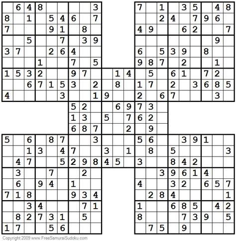 easy samurai sudoku puzzles  images sudoku