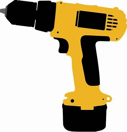 Drill Clipart Electric Screwdriver Tool Animated Tools
