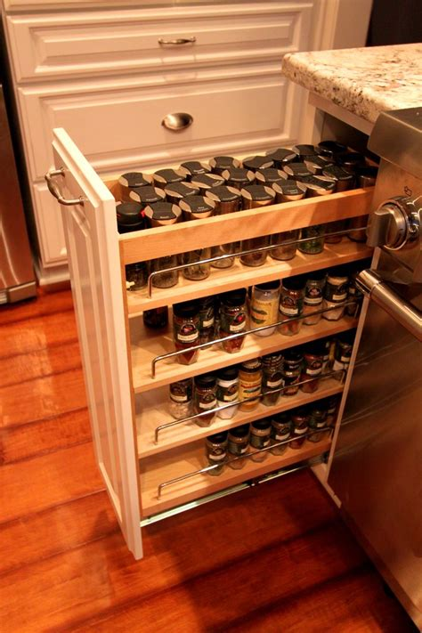 Slide Out Spice Racks For Kitchen Cabinets by 17 Best Ideas About Pull Out Spice Rack On