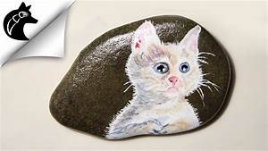 Steine Bemalen Katze : rock painting ideas cat youtube ~ Watch28wear.com Haus und Dekorationen