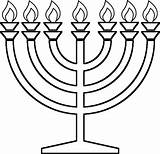 Candelabra Template Menorah Coloring Pages Templates sketch template