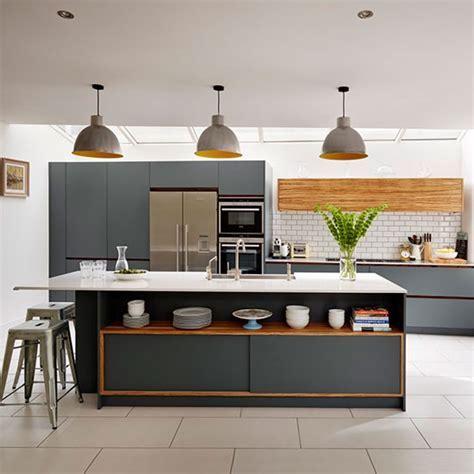Dark grey painted kitchen   Painted kitchen design ideas