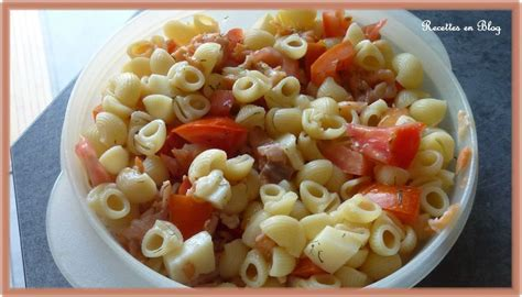 salade de pates saumon fume fromage tomates recettes en