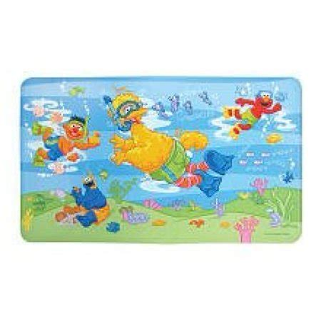 Sesame Street Scuba Bath Tub Mat Non Slip Construction Easy to Clean 100% BPA, Latex