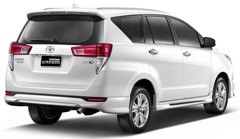 toyota thailand toyota innova crysta launched with a bodykit in thailand