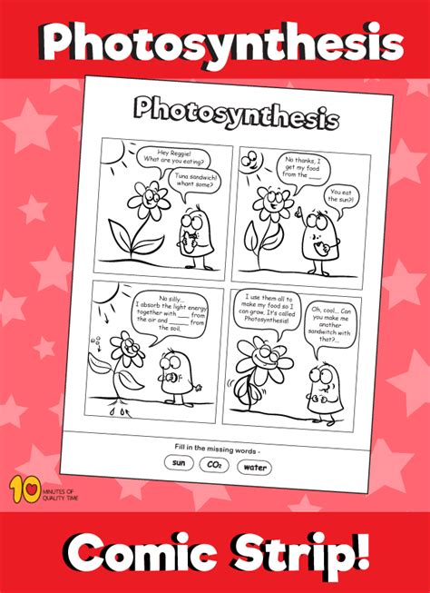 photosynthesis comic strip  minutes  quality time