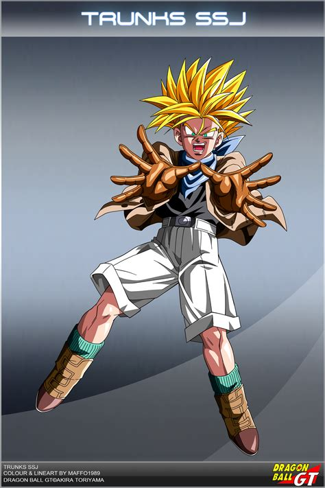 dragon ball gt trunks ssj cartoon image wallpaper