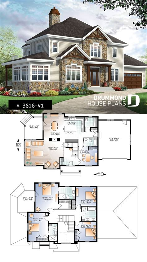 house plan Bainbridge 3 No 3816 V1 Craftsman house