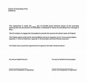 consulting contract template 9 free sample example format With consultant contract template free download