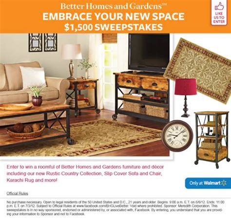 enter  win  homes  gardens  sweepstakes