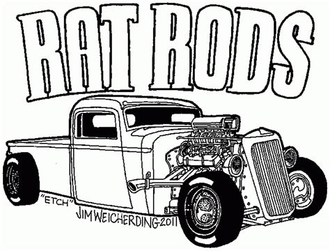 Hot Rod Coloring Pages To Print Download Free Coloring