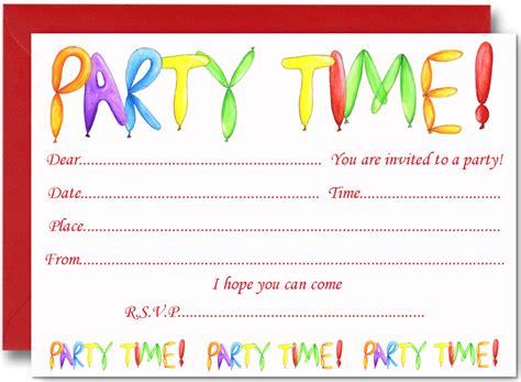 FREE Birthday Party Invites for Kids FREE Printable