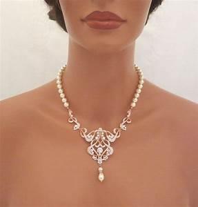 bijoux de mariage en or With collier perle mariée