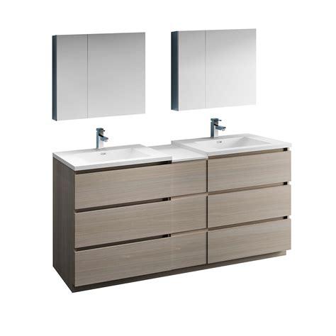 Freestanding Medicine Cabinet by 72 Quot Gray Wood Free Standing Sink Bathroom Vanity W