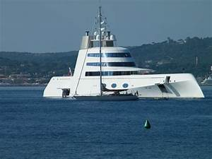 119m BV Yacht A In France St Tropez Photographed By