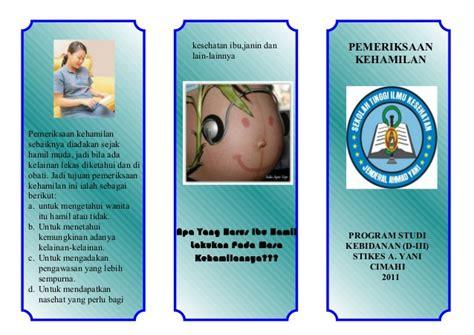 Hamil Muda Hubungan Badan Leaflet Pemeriksaan Ibu Hamil