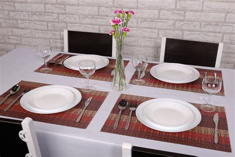 Dining Table Place Mats - kcasa placemat fashion pvc dining table mat disc pads bowl