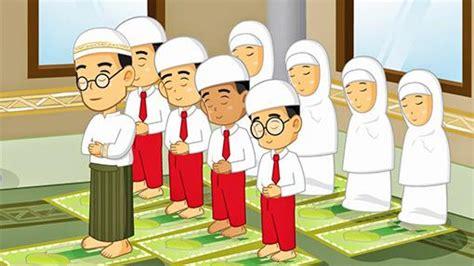 gambar orang sholat berjamaah kartun 99 gambar kartun