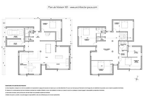 plan architecte maison moderne plan gratuit maison architecte contemporaine