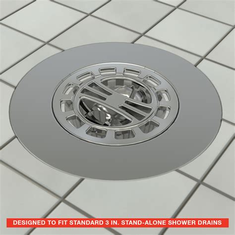 Hair Catcher Shower by Hair Catcher Shower Drain Cover In Chrome Plumbing Parts