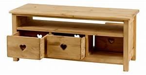 Table Basse Rustique : table basse rustique en pin avec coeur 3 tiroirs 1 niche ~ Teatrodelosmanantiales.com Idées de Décoration