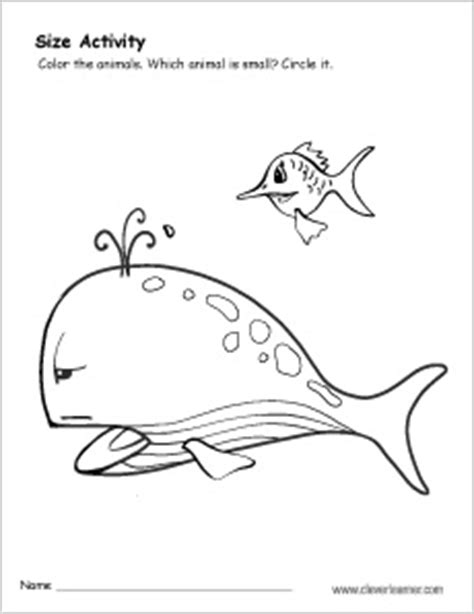 small smaller smallest coloring pages learny kids