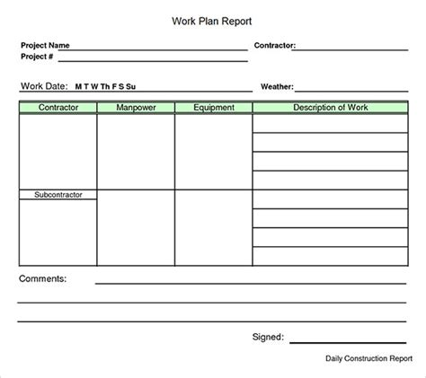 work template search results for work plan exle calendar 2015