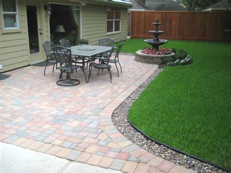paver patio traditional patio houston by bellaire