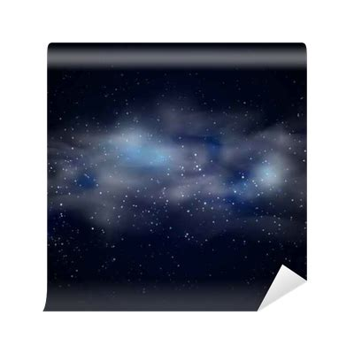 cosmic space black sky background  blue stars nebula