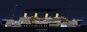 rms titanic | cross section of the RMS Titanic. | The ...