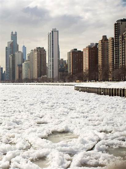 Lake Michigan Ice Gifs Chicago Animated Floes