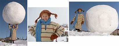 Pippi Dicken Ihrem Winterpulli Schal Blauen Langstrumpf