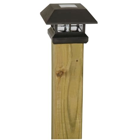 solar lights for deck posts home depot solar powered post cap l light for your deck or fence