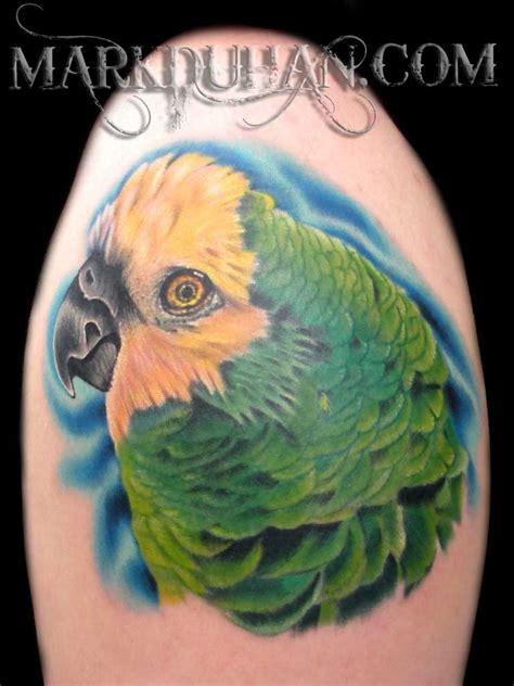 cool parrot head tattoo design  mark duhan