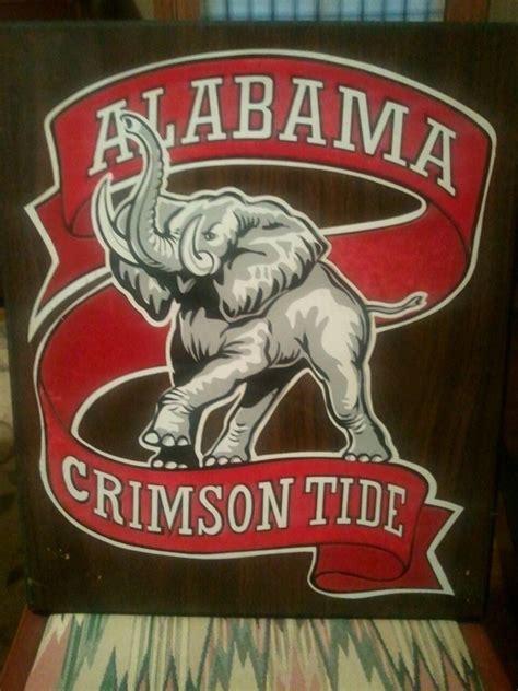 vintage alabama crimson tide wall felt plaque ebay
