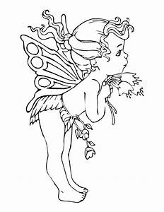 adult color pages - free printable fairy coloring pages for kids