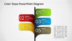 Color 5 Steps Shape for PowerPoint - SlideModel