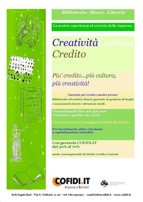 Librerie Scientifiche by Piu Credito Piu Cultura Piu Creativita News Ed