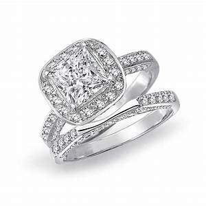 Ring Set Silber : 925 silver princess cut engagement wedding ring bridal set 3 sided ~ Eleganceandgraceweddings.com Haus und Dekorationen