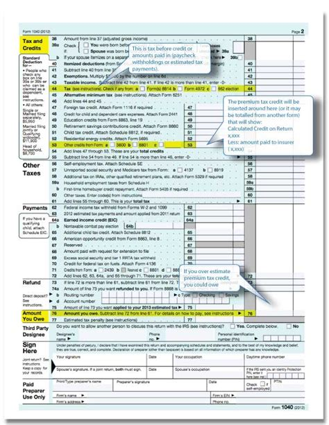 tax form for health insurance subsidy health insurance subsidy on form 1040 eindividualhealth