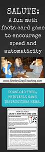 Math Game For Speed And Automaticity With Free Printable